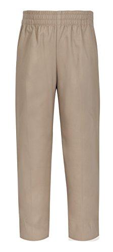 CLASSROOM Big Boys' Uniform Pull-On Husky Pant, Khaki, 16H