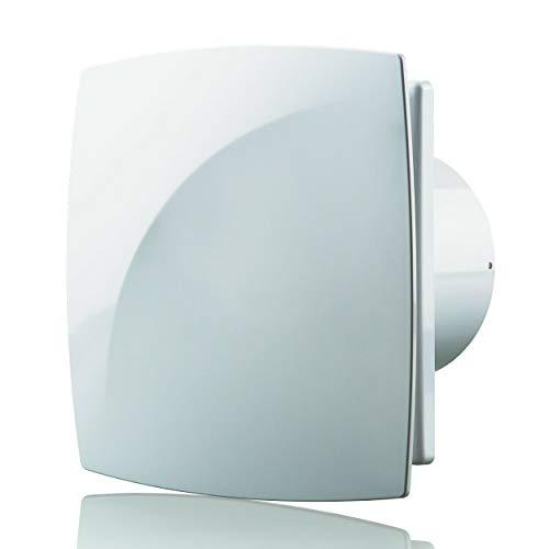 Blauberg UK MOON 100 H - Ventilador extractor de humedad y condensación para baño (100 mm), color blanco
