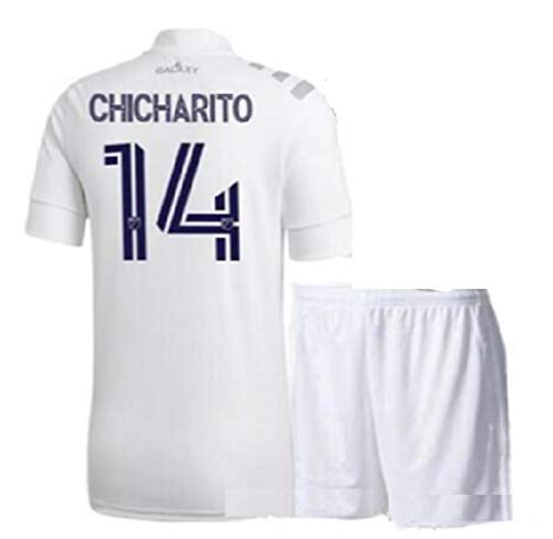 ZamZam Chicharito Kids Jersey + Shorts Set Galaxy for Children Home White Youth Size X-Large (12 Years Old)