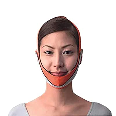 Face Slim Lifting Face Belt Reduce Wrinkles of Double Chin Shape V-Line Weight Loss for Face Bandage V Face Chin Cheek Lift Up Slimming Slim Ultra-thin Belt Strap Band (1pc, Orange)