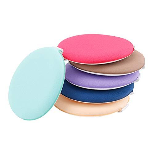 Lurrose 6pcs maquillage rond mélange mélange Puff Puff Wet Dry Puff avec ruban pour les femmes filles cosmétique Fondation Air Cushion