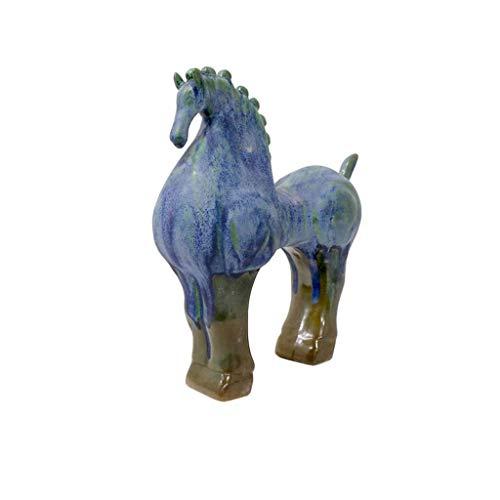 Estatua de caballo de cerámica, decoración moderna del hogar, modelo de escultura de caballo, oficina, sala de estar, gabinete de vino, gabinete de TV, decoración de adorno, H30CM para el jardín d