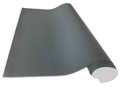 Cuadros Lifestyle Selbstklebende und magnetische Vinyl- Tafelfolie | Magnetafel | Magnetfolie, Farbe:Grau, Größe:50x100 cm