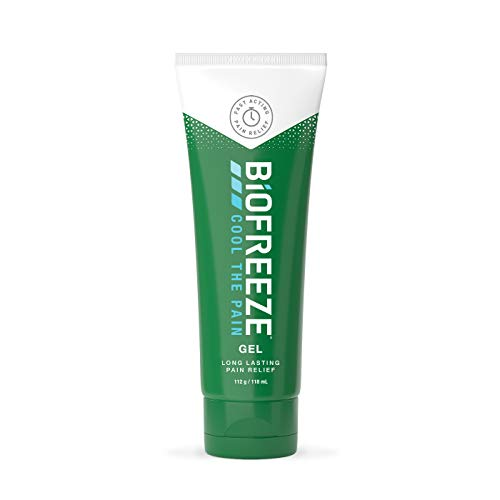 Biofreeze Pain Reliever Gel, Cooling Topical Analgesic for Muscle, Joint, Arthritis, Back Pain, Relief for Sore Muscles, 118 ml Gel, Cryotherapy, Clinic & Home, Free of Ibuprofen, Packaging May Vary