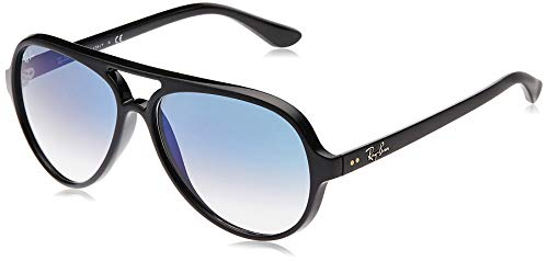 Ray-Ban 4125, Occhiali da Sole Uomo, Nero (Light Blue Gradient), 59