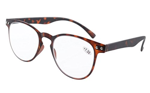 Eyekepper zonnebril, ronde leesbril, complete afdekking, ultradun, flexibel montuur +2.00 Karetschildpad