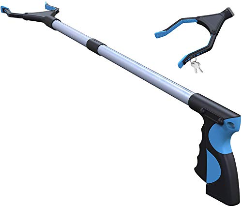 "Grabber Tool,FitPlus Premium Reacher Tool 32"" Plus 2 Year Warranty Grabber Reacher for Elderly, Lightweight Extra Long Handy Trash Claw Grabber"