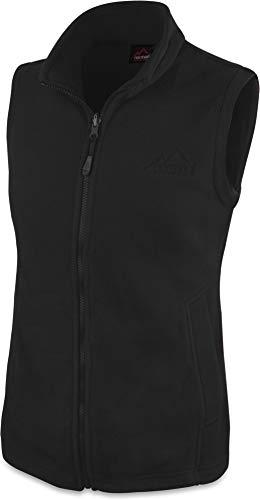 normani 280g Fleeceweste für Damen - Winddicht, leicht, warm, elegant Farbe Schwarz Größe XS