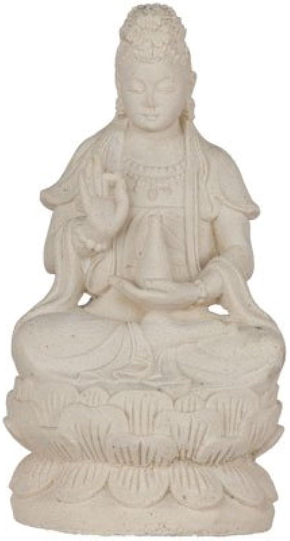 Kheops International Volcanic Stone Statue Quan Yin White (Each)