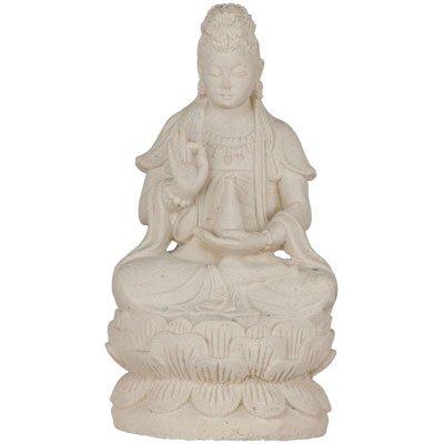 Volcanic Stone Statue Quan Yin (Kwan Yin) White (each)