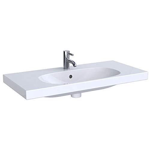 Keramag KG Acanto Waschtisch Compact, 900x420mm ohne Hahnloch, m. Ül, weiß, KeraTect