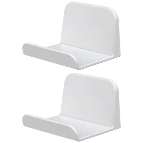 Sunsdew Paquete 2 para Controlador PS4 Soporte Auriculares para Montaje en Pared Soporte para Auriculares Gancho Controlador Juegos, Cables, Gamepad, Paraguas, Bolsa, Mochila (Blanco)