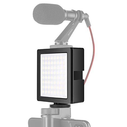 Neewer 3 Wege erweiterbare 64 LED Lichttafel USB dimmbare Videolicht mit eingebautem Li-Ion Akku und 3 Dehnfugenschnittstelle 5000K für Canon Nikon Sony Olympus DSLR-Kameras