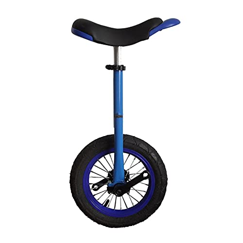 JLXJ 12inch(30cm) Tire Unicycle for Little Kid, Boys/Girls Beginners Cycling Bike, for Children Height: 70-115cm, for Outdoor Balancing Exercise (Color : Blue)