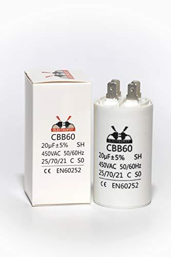 Motorkondensator 450V 20 Microfarad CBB 60