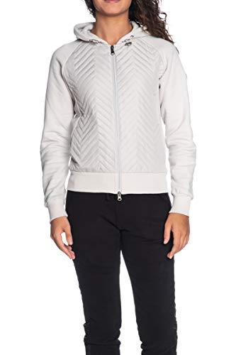 COLMAR Jacke mit Kapuze und Reißverschluss für Damen Originals Eiskönigin, Grau X-Small