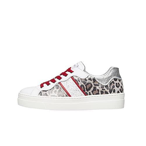 Nero Giardini E010671D Sneakers Donna in Pelle E Tela - Bianco 39 EU