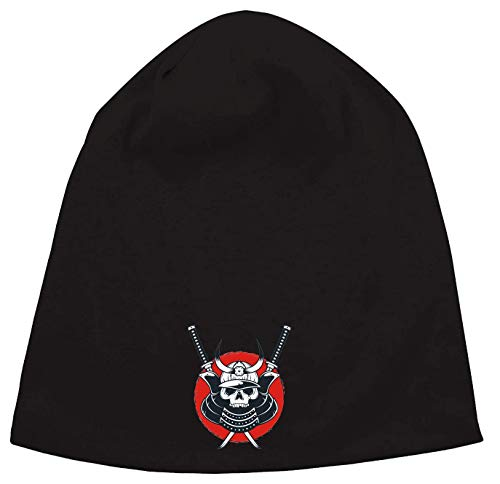 Generic Samurai Skull Ostkaka Tokyo Rising Sun Katana Jersey Beanie Hut Dünne Slouch Cap Unisex One Size