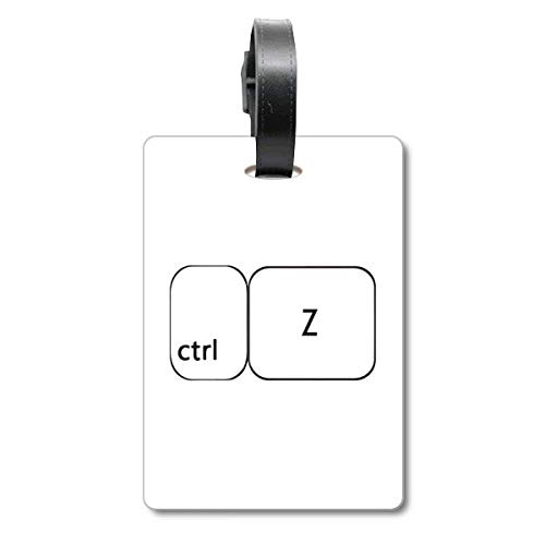 Keyboard-Symbol ctrl Z Cruise Koffer Bag Tag Tourister Identification Label