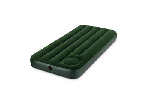 INTEX Matelas gonflable vinyle camping Vert 137 x 191 x 22 cm