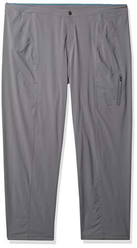Columbia Pantalon droit droit pour femme, résistant à l'eau et aux taches, Femme, Pantalon de randonnée, Just Right Straight Leg Pant, Gris City, 22 Plus