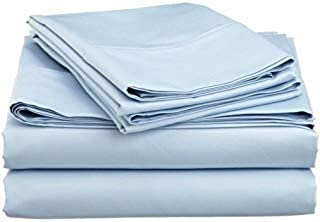 Tula Linen 700 TC 100% Egyptian Cotton Sleeper Sofa Bed Sheet Set Solid fit Up to 9 Inch with 4 -PCS Fitted Straps Premium Quality (King(76