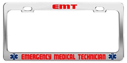 General Tag EMT Emergency Medical Technician Job Occupation Profession License Plate Frame