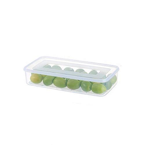 Ruluti Nivel 1 Nevera Caso del Organizador Fruta del Alimento Caja De Almacenamiento con Tapa Transparente De Plástico Apilables Bins Ahorrador del Espacio del Congelador
