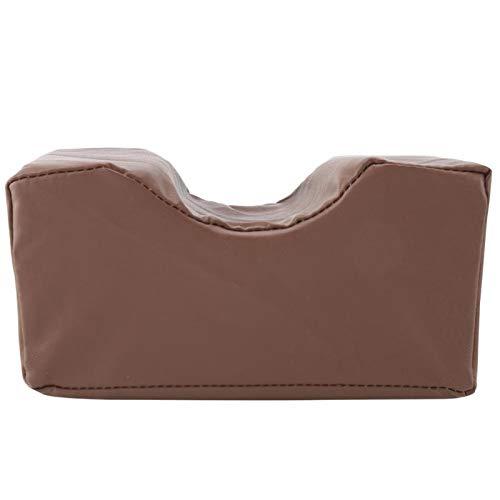 Cojín de cuña de esponja, Almohada de soporte de cuña Cuero de PU Alivia la fatiga para muñecas Cojín de soporte de esponja(café, Los 20 * 10 * 10cm)