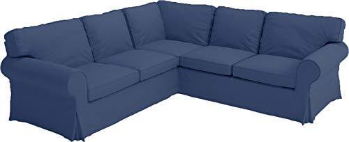 Custom Slipcover IKEA Ektorp 2 2 Sofabezug aus Dicker Baumwolle für IKEA Ektorp Ecksofa oder Sectional Sofabezug dunkelblau