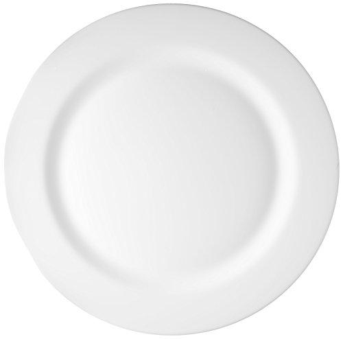 Esmeyer 402–910 Lot de 6 Assiettes de Présentation Evolution, Verre, Blanc, 31 x 31 x 1,5 cm, 6 unités