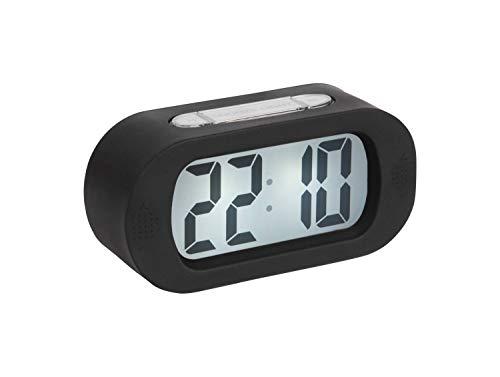 Karlsson - Uhr, Wecker Gummy - Silikon - schwarz - H7 x B14 x T5 cm