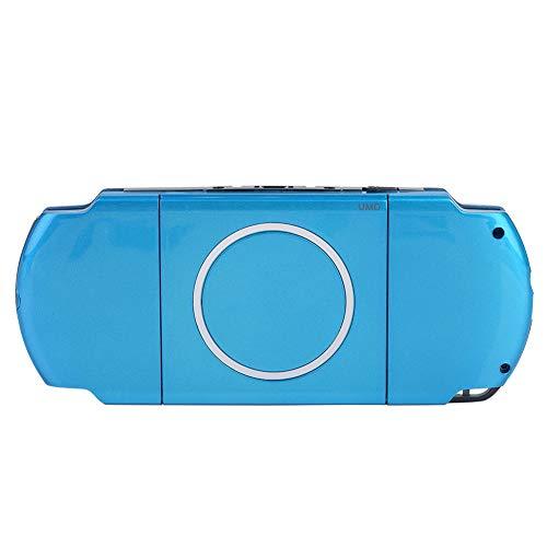 Reemplazo de la Carcasa Completa Consola del Juego Cubierta de la Carcasa Cubierta Trasera Piezas de reparación para el Sistema PSP 3000 / Playstation Portable 3000(Azul)