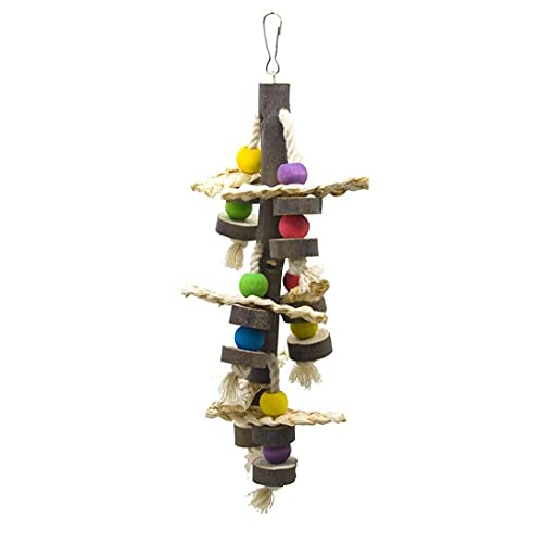 NIDONE Bird Chew Toy Loro Tear Juguete Grava para Colgar Piezas de Cuerda Loro Loro hámster Conejo Chinchilla