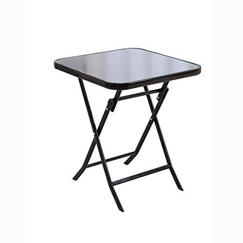 Vouwen, Eettafel Simple Portable Square Voor De Begroting Small Outdoor Staan Ronde Glazen Tafel Kwaliteit Moderne Vintage Look,60,4