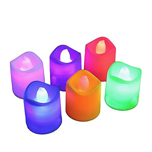 Crazyfly Luces de té, 24 piezas sin llama luz de té LED, para velas brillantes parpadeantes con pilas falsas