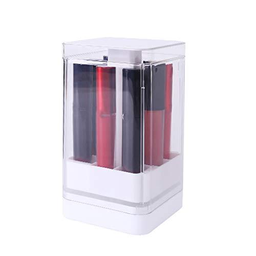 KLOVA 8/12 Grids Press Lift Lipstick Aufbewahrungsbox Drücken Sie zum Öffnen des transparenten Lip Glaze Holder Cosmetic Organize