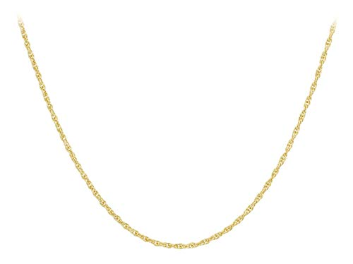 Carissima Gold Women's 9 ct Yellow Gold 0.6 mm Prince of Wales Chain Necklace of Length 46 cm/18 Inch