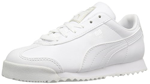 GUBARUN Girls White Running Shoes Breathable Boys Athletic Lightweight Sneakers(12.5, White)