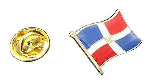 Pin de Solapa Bandera Mastil Rep Dominicana 16x15mm   Pines Originales Para...