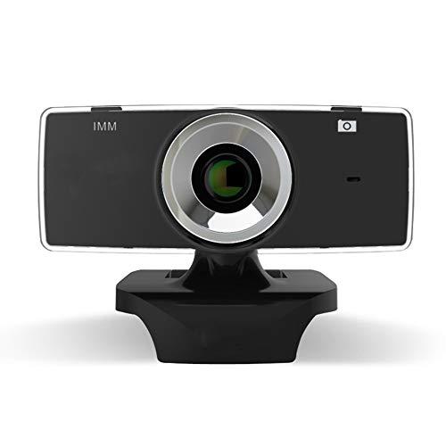 XIEJ Webcam con micrófono, cámara web HD con clip giratorio, transmisión en vivo USB cámara web para ordenador PC portátil de escritorio, para conferencias, grabación de vídeo, llamadas y juegos