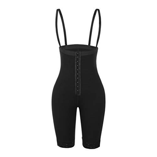RHYS FLETCHER Womens Invisible Slimming Bodysuit Girdles Thigh Shaping Butt-Lifting Hooks Buckle Rompers Black