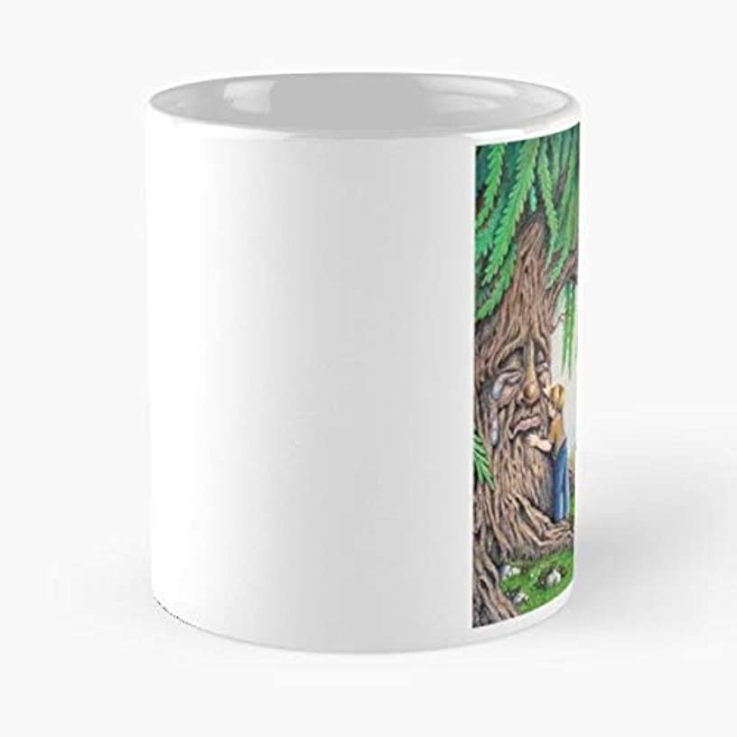 Child Tree Weeping Willow Dog Funny Floral Coffee Mugs Gifts
