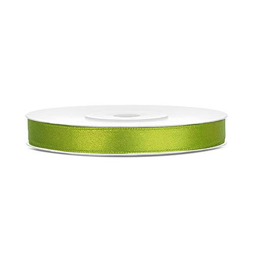 DaLoKu Satinband 6/12/25/38/50/100mm x 25m Geschenkband Schleifenband, Größe: 6mm x 25m, Farbe: Grün