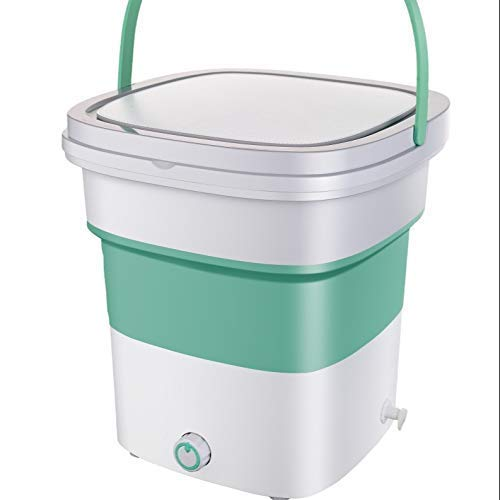 HOMEAPPY ENTERPRISE Mini Folding Washing Machine || High Powered Motor Compact Ultrasonic Small Automatic Cleaning Washer for Travel Home Business Trip - Multicolour