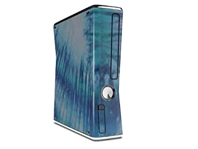 Tie Dye All Blue Stripes Decal Style Skin for XBOX 360 Slim Vertical (OEM Packaging) from Matrix Productions, Inc.