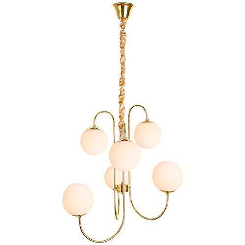 HUAXUE ZHXZHXMY Boutique Lighting - Frijoles araña de LED Bola de Cristal posmoderna Magic 6 Fuente de luz Creativo decoración Luces Pendientes Sala Principal
