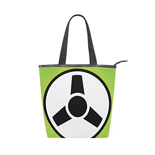 FANTAZIO Damen Handtasche Lenkrad Icon Cavas Handtasche