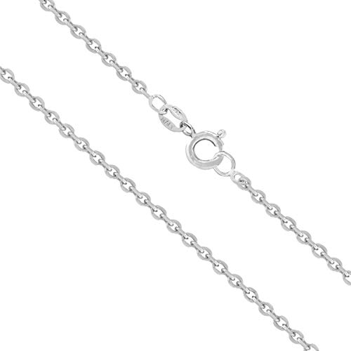 Honolulu Jewelry Company Sterling Silver 1.5mm Cable Chain (18 Inches)