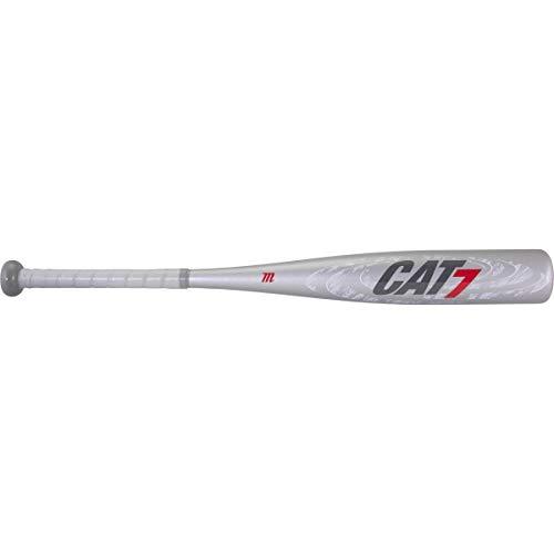 Marucci CAT7 Silver -10 USSSA Junior Big Barrel Baseball Bat, 2 3/4